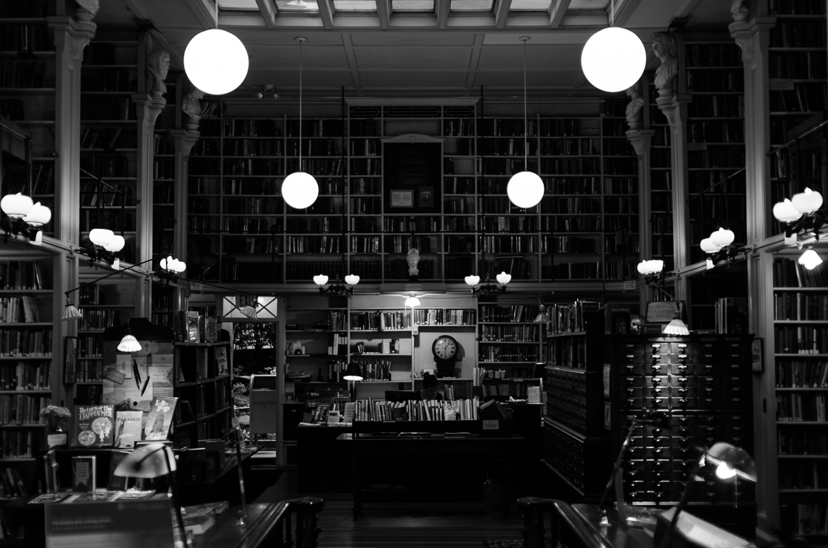 Interior of the Providence Athenaeum