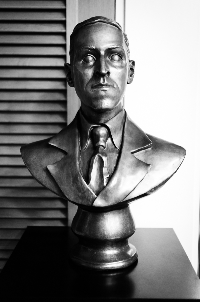 Lovecraft Bust at the Providence Athenaeum