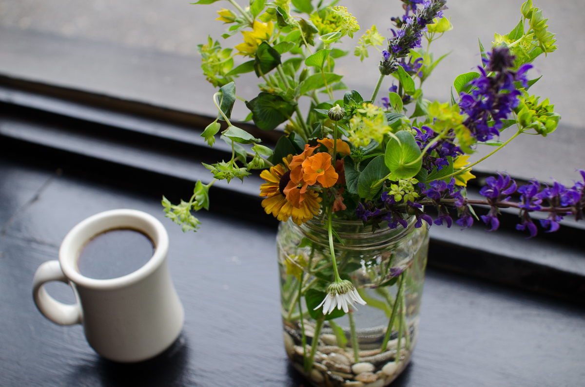 Northwest Coffee Cup with Flowers