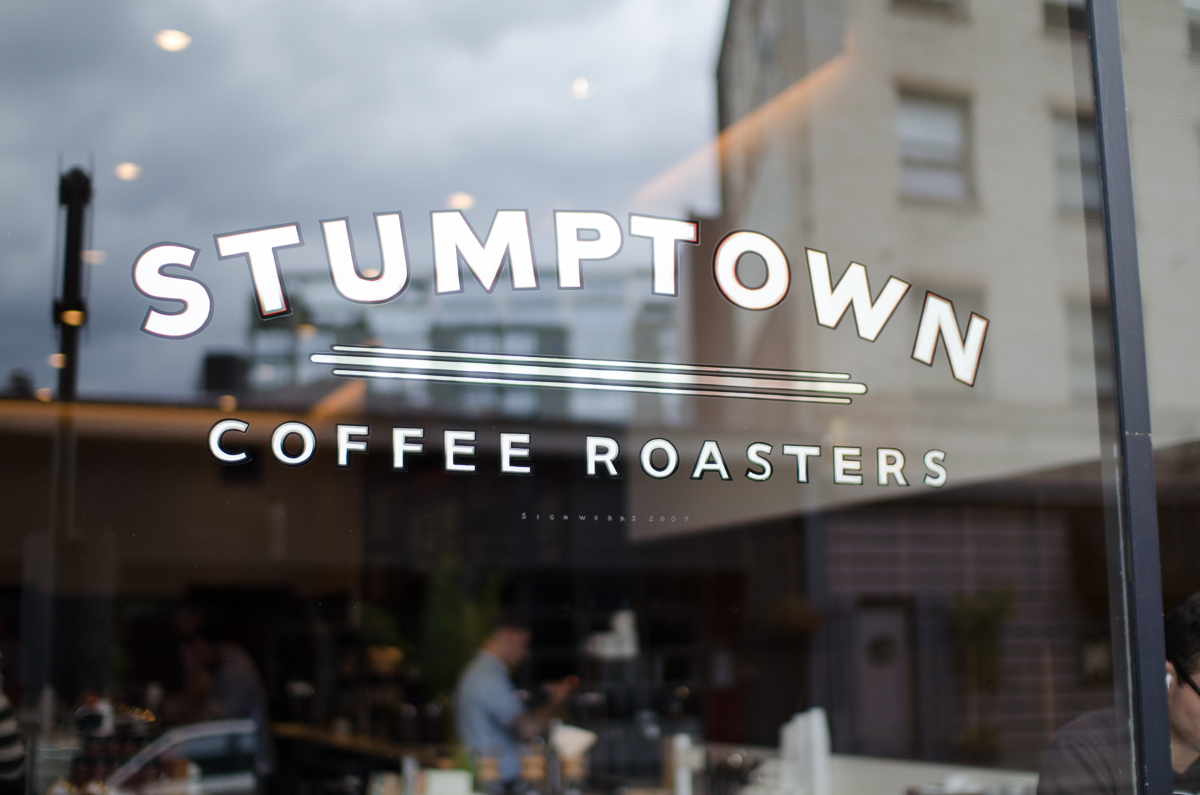 Stumptown Coffee at the Ace Hotel Window